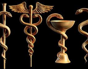 Medical symbol 4 models collection doctor