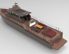 3D asset Boat wood 27m
