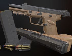 FN Five-seveN 3D model low-poly