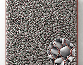 Gabion big gray pebble 3D model