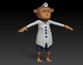Monkey doctor 3D asset