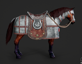 The warhorse of ancient Chinese armed cavalry 3D model 2