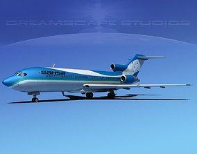 Boeing 727-100 SAHSA 3D model