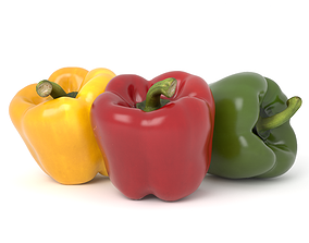 Bell Pepper Photoscan 3D asset