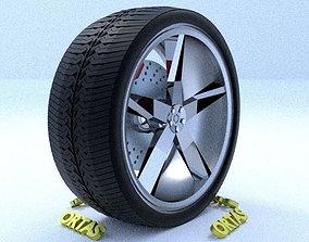 3D ORTAS CAR RIM 19 GAME READY RIM TIRE AND DISC