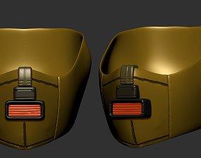 gas mask helmet scifi high poly sculpt 1