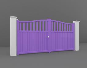 3D model park Outdoor Gate