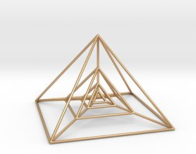 Nested Pyramids 3D printable model