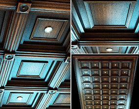 Ceiling set -2 - wenge color 3D