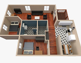 3D House - Floor Plan 2