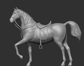 3D print model saddle Horse