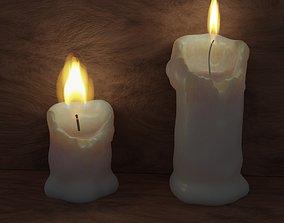 Candles 3D asset realtime