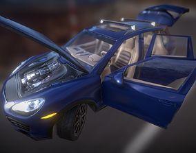 Porsche GameReady LowPoly model 3D asset