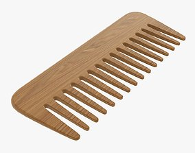 3D model Wooden hair comb type 1