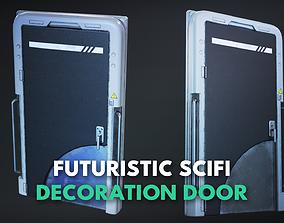 3D model Futuristic Scifi Decoration Door -Game Ready- PBR