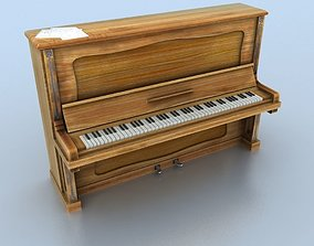 Old piano 3D model game-ready