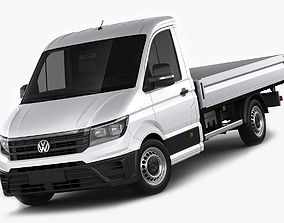 VW Crafter 2017 single cab pickup 3D model