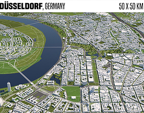 Duesseldorf Germany 3D model munich