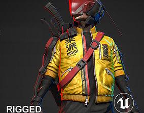 Cyberpunk Mercenary Character 3D asset