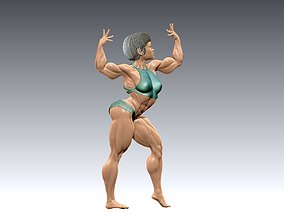 Bodybuilder girl in a beautiful pose 3D print 1