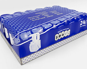 24 pack shrinkwrapped 330ml cans card tray 3D model