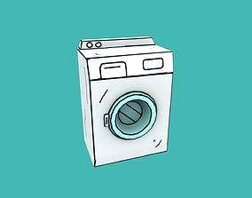 3D asset Washing Machine Cartoon