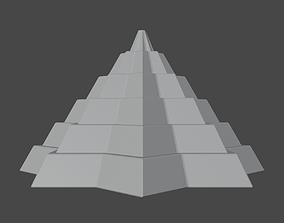 3D print model Pyramidal Structure 8 Corners Mayan Style