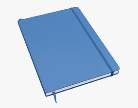 Notebook hardcover with strap large A4 3D model