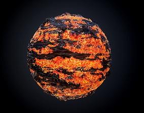 Lava Ground Seamless PBR Texture 02 3D