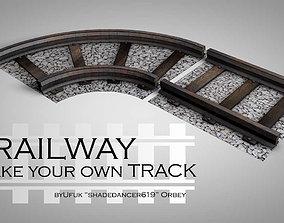3D model LowPoly Railway