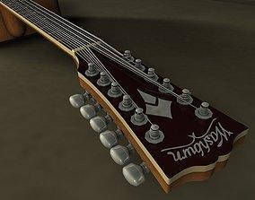 Washburn heritage 12 string Guitar 3D