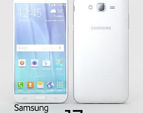 3D Samsung Galaxy J7 White phone