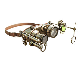 Steampunk Goggles industry 3D model