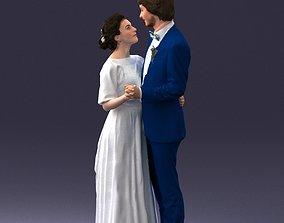 Wedding couple 0430 3D Print Ready