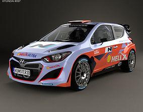 3D Hyundai i20 WRC with HQ interior 2012 racing