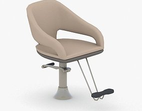 0891 - Hairdresser Chair 3D model low-poly