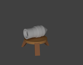 Low poly Clash Of Clans Cannon 3D asset