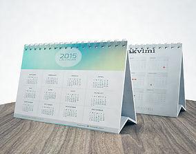 3D model calendar agenda