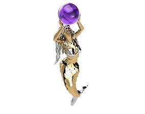 Mermaid Pendant N0 05 3D printable model
