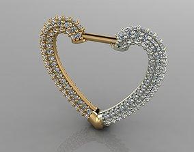 3D printable model GC GOLD E060- Diamond Cartilage Earring