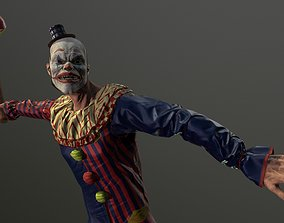 animated Clown Man - Game Ready Low-poly 3D model