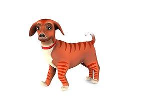 3D asset Cartoon Puppy Dog Rigged