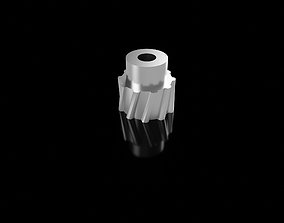 helical gear small 3D printable model