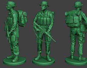 3D print model Modern Jungle Soldier Stand MJS1