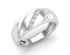 Diamond jewelry ring 3D print model gem