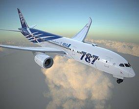 Boeing 787 Dreamliner ANA airlines 3D model