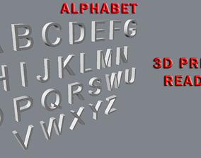 Alphabet 3D Print Ready