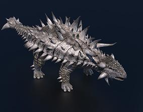 3D model rigged Ankylosaurus Dinosaur