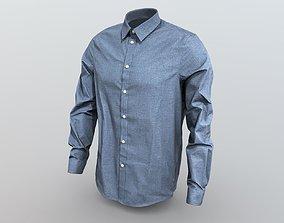 Pier one shirt blue 3D model