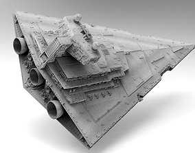 3D Imperial II Star Destroyer Star Wars - High detail 1